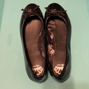 Black Patent Leather Flats 11M